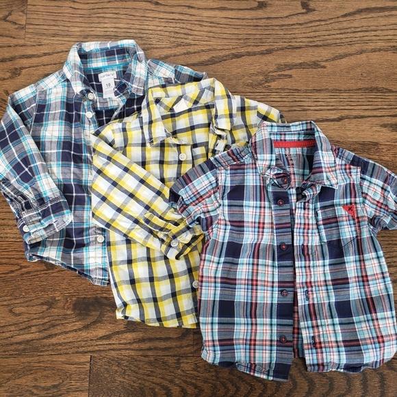 46184913 Carter's Shirts & Tops   3 Plaid Shirts   Poshmark